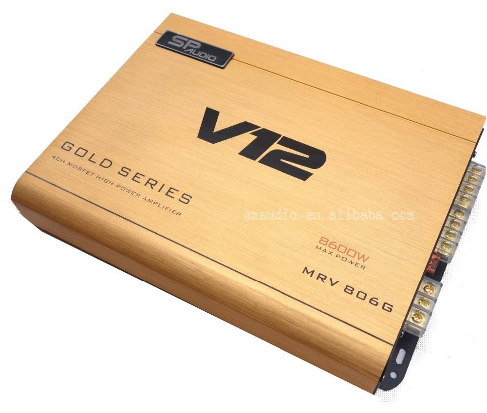 Vendita calda car audio kit amplificatore con 4 da 80 W classe AB amplificatore car audio