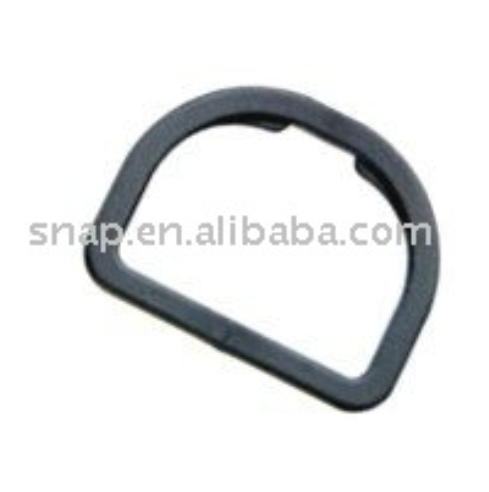 Plastic D-ring loop for Bag and Luggage Fittings, Black