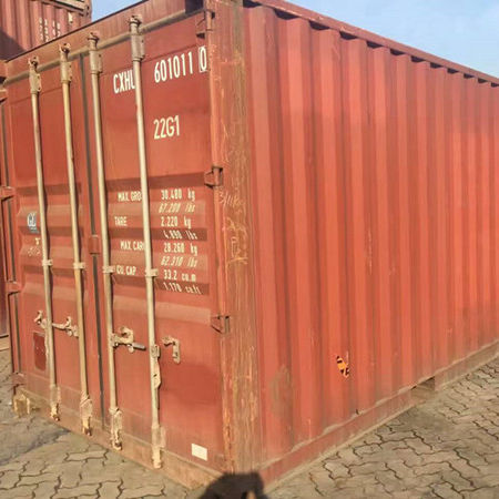 ISO 20 feet high cube used shipping container with CSC