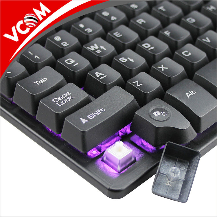 New stylist waterproof Arabic black mechanical gaming keyboard PC with USB wire for gamer
