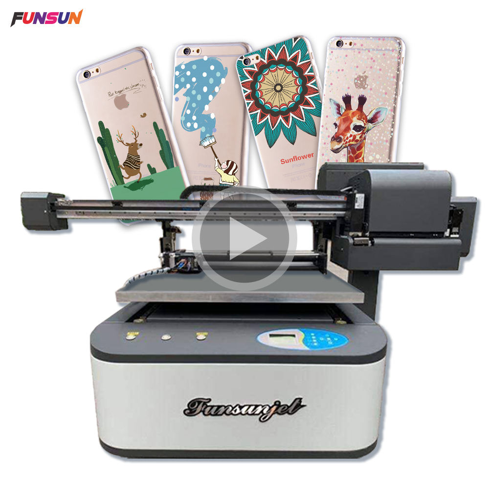 Top Selling Funsunjet A1 Uv 3d Effect Afdrukken Machine Flatbed <span class=keywords><strong>Printer</strong></span> Met 2 Dx8 Heads