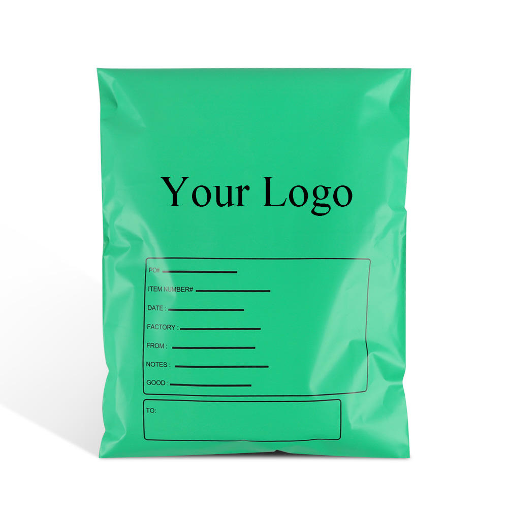 hot sale green Poly mailer bag envelope plastic shipping pouch for packaging clothing