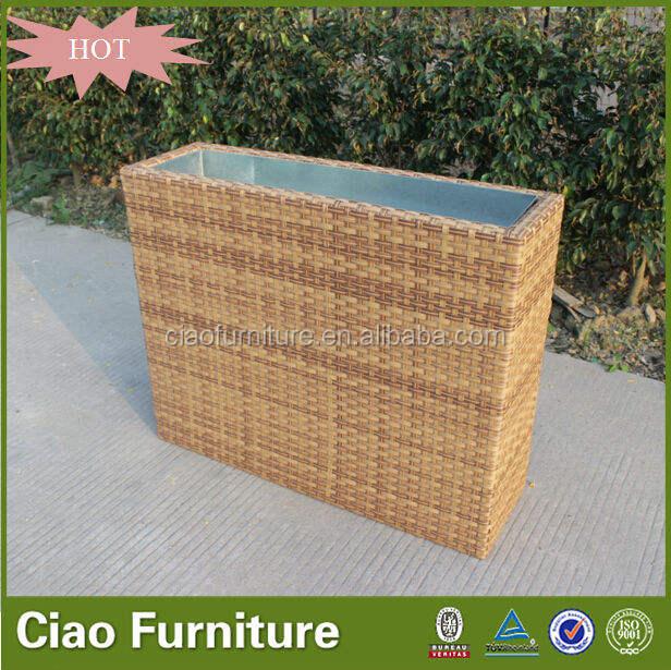 Durable al aire libre muebles de ratán jardín jardinera maceta L-002