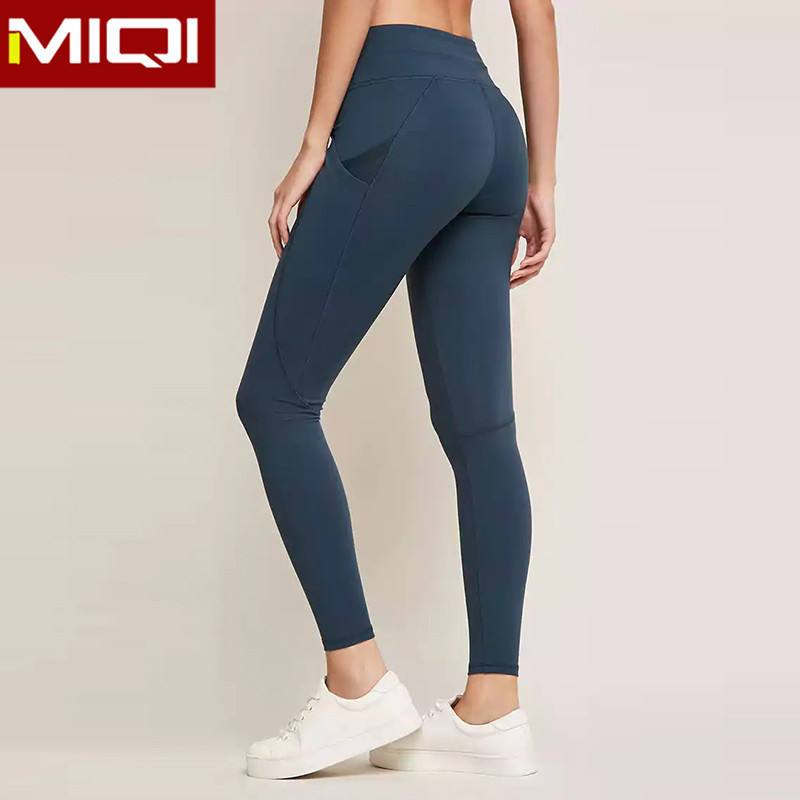 Guangzhou Factory Custom Women Athletic Leggings Leggings With Pockets Compression Yoga Pant Leggings