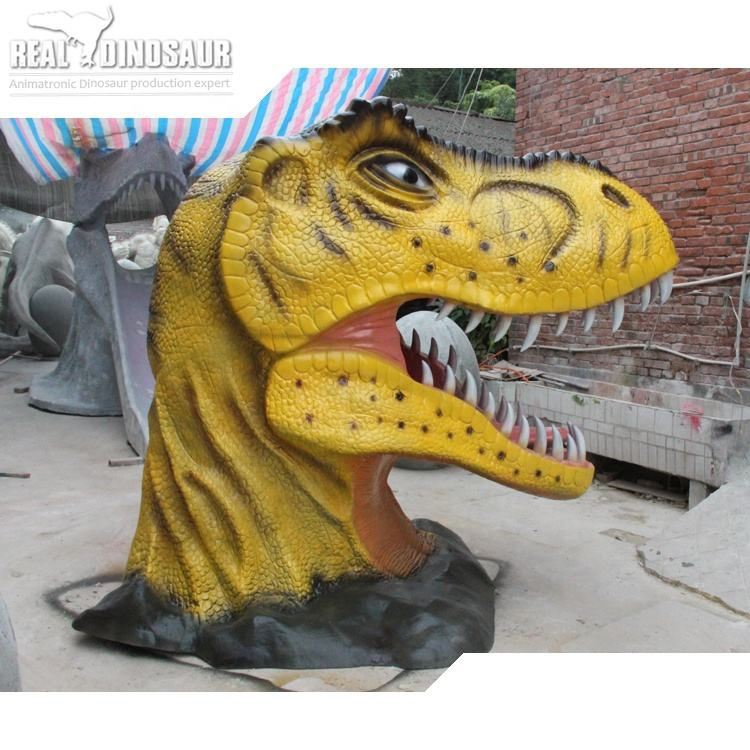 Amusement Park used to take pictures of fiberglass Dinosaur head