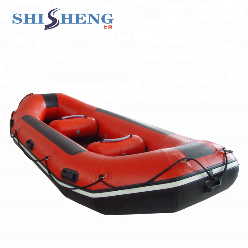 PVC/Hypalon Inflatable Rowing Boat Self-Draining White Water River Rafting Boat