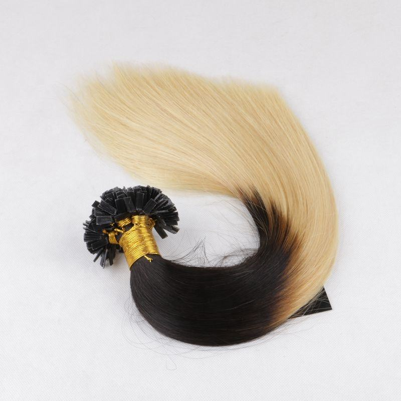 Factory Prices 9A brazilian double drawn hot fusion keratin remy human U tip/V tip/Flat tip hair extensions