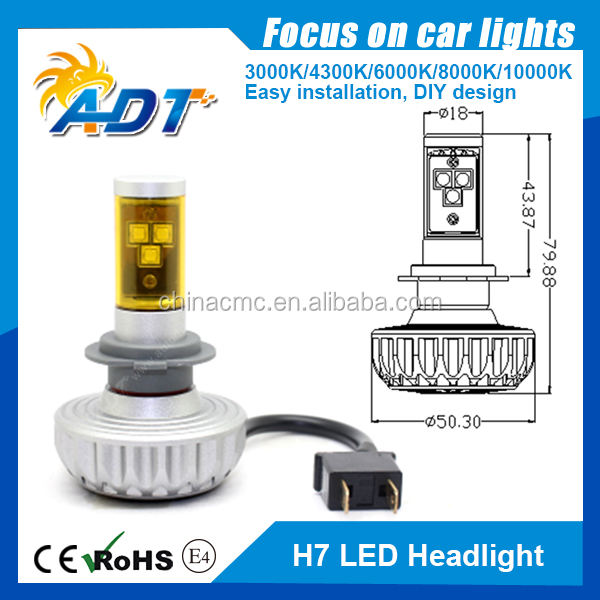 Solo <span class=keywords><strong>haz</strong></span> 80 W 6000 LM inteligente G4S modelo H7 <span class=keywords><strong>auto</strong></span> led headlight