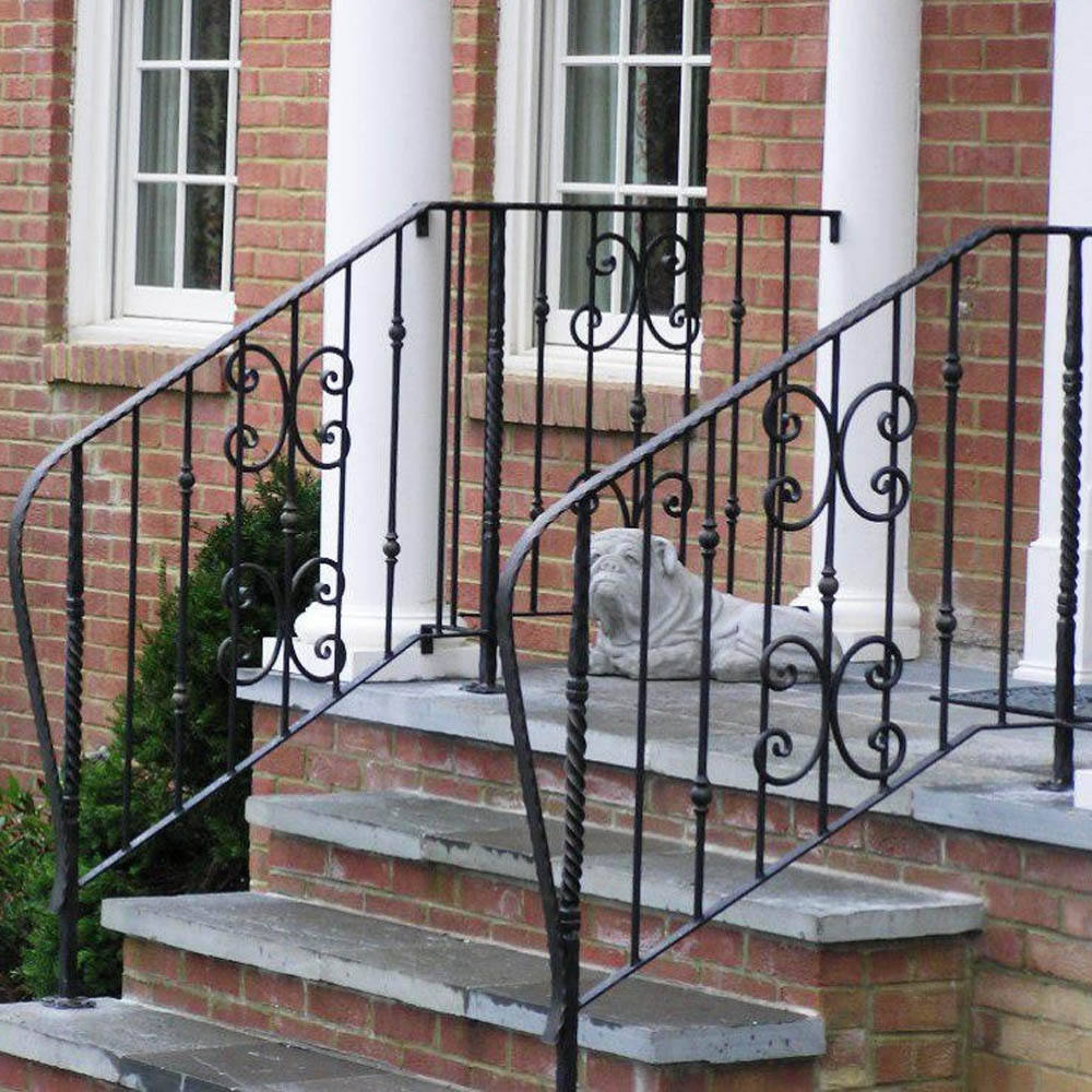 painting modern wrought iron front porch