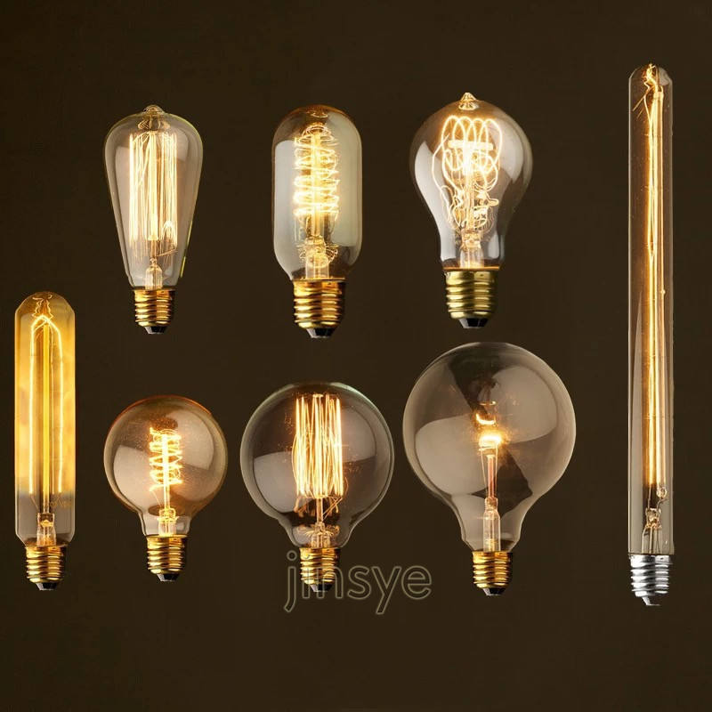 CE E27 E26 vintage incandescent edison retro light bulb for USA