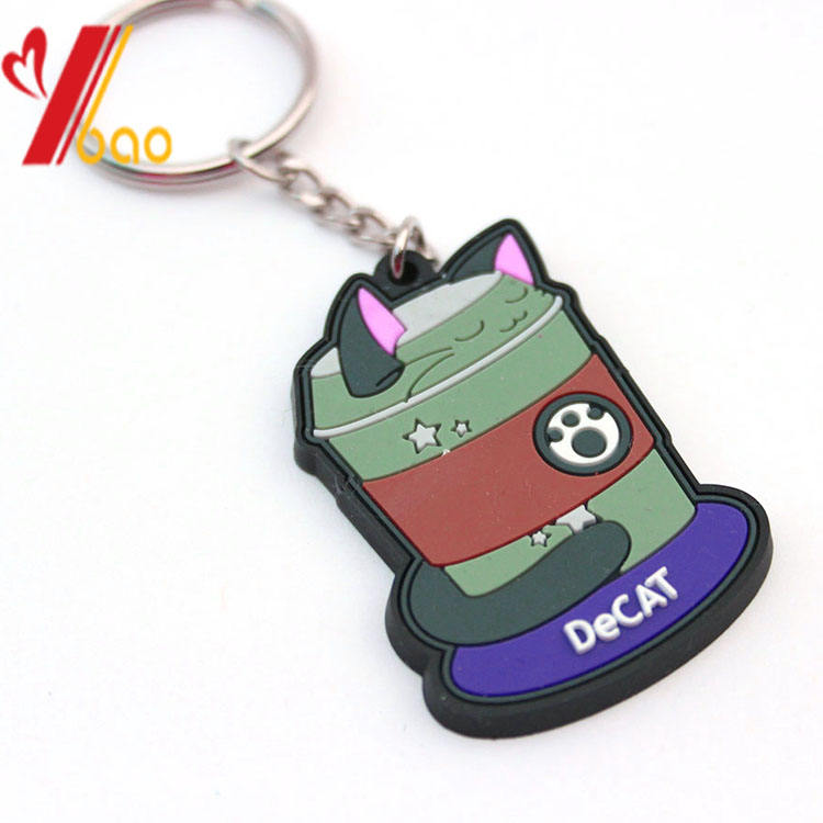 Promotional gifts with logo rubber keychain/custom key tag/ Customized pvc keychain