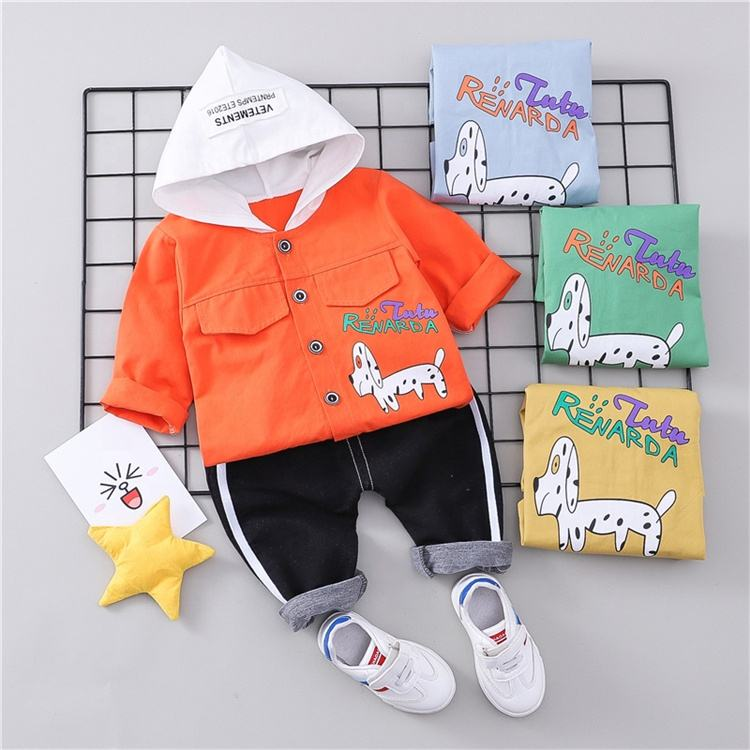 Manufactures infant baby clothes set 2 pieces boy sets Kids Sport Clothes