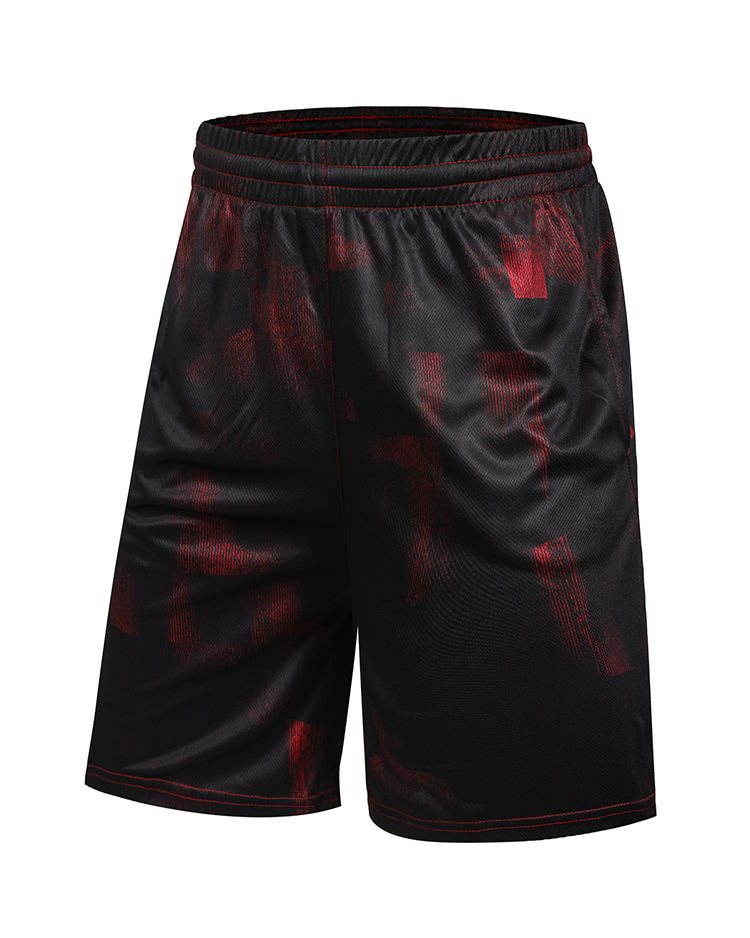 Tai custom mens printing red breathable jogging shorts