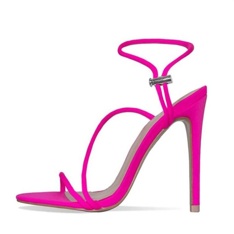 New European Fashion Fluorescent Zapatos De Mujer Summer Stiletto High Heels for Women Pumps shoes