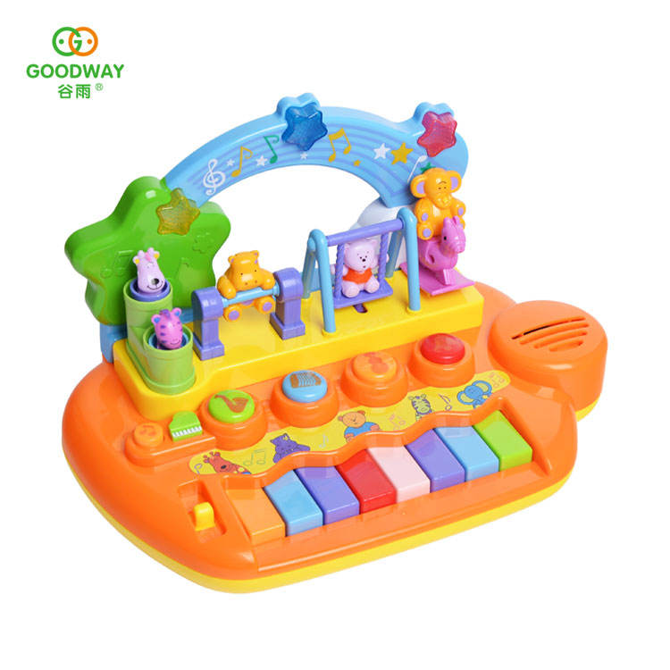 Wholesale cartoon animals baby small musical instrument toy kids piano
