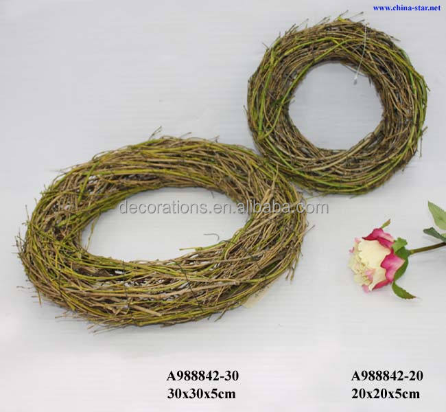 "12"" round bamboo wreath for florist"