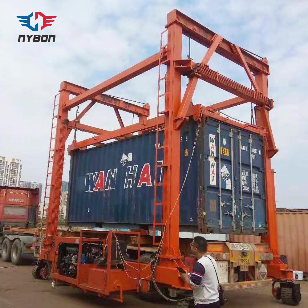 Goods yard portable Mobile Double Girder Port Container Gantry Crane Cost