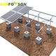 aluminum solar panel mounting frames with concrete foundation