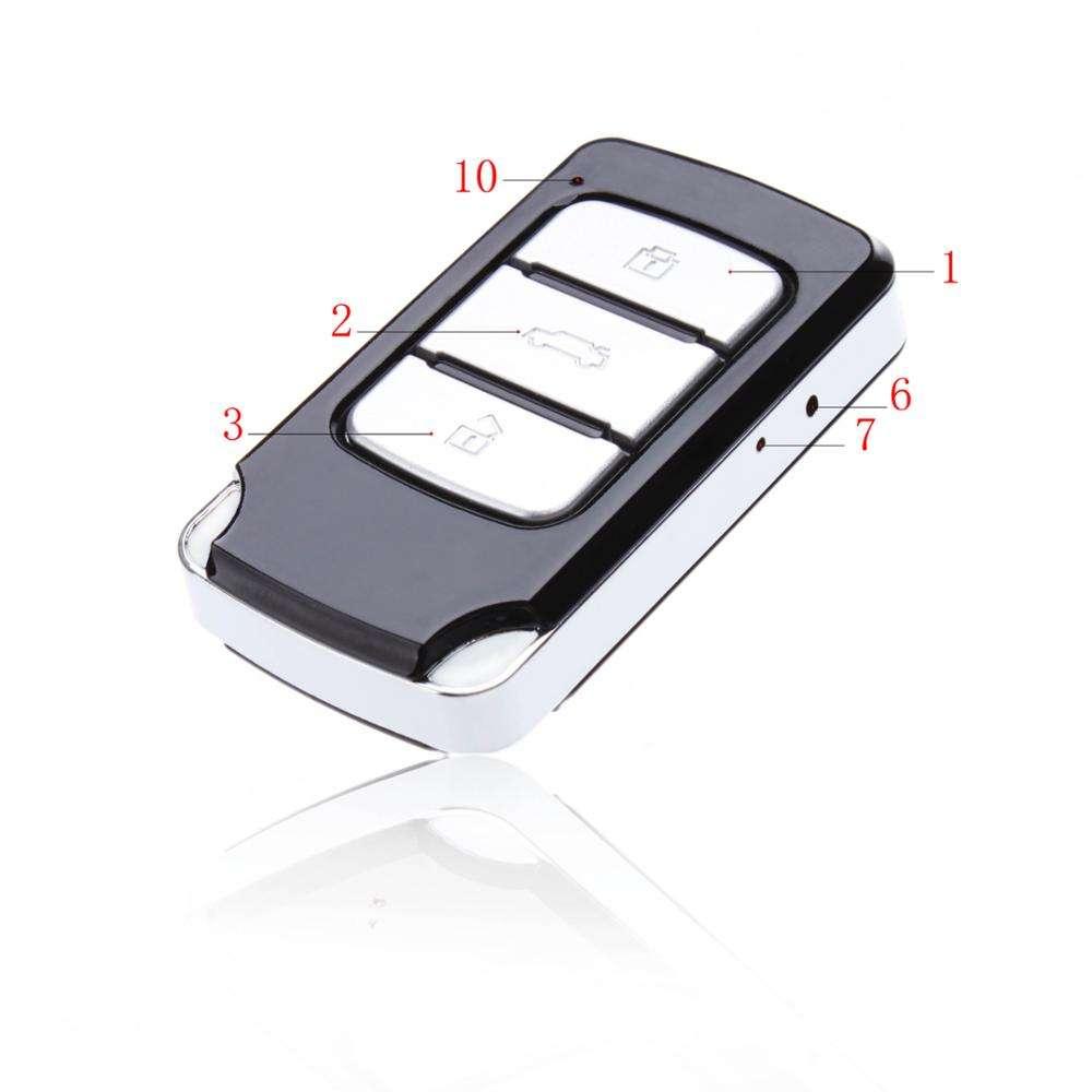 Ультра маленькая высокой четкости HD Mini DV ключа автомобиля Скрытая камера Spy с записью обнаружения