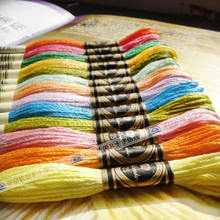 Different Colors Cross Stitch Cotton Embroidery Thread Floss Sewing Skeins