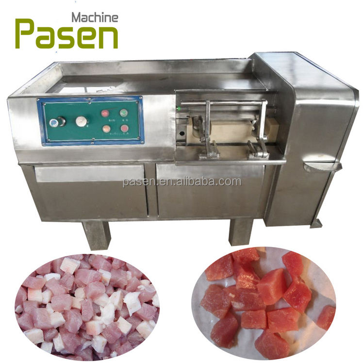 Industrial meat dicing machine / chicken cutting machine / meat cube cutting machine
