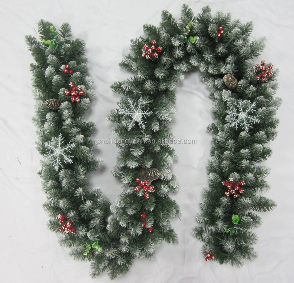 Outdoor PVC decorative christmas garland,christmas decoration