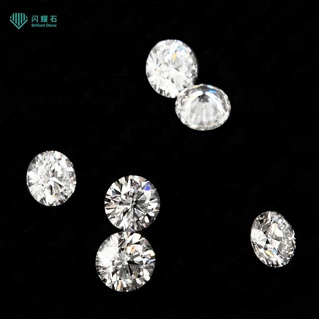 Factory white round HPHT synthetic diamond loose diamond for sale