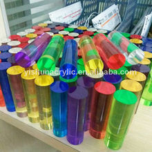 Professional custom LED light acrylic rod pmma rod casting colorful acrylic bar