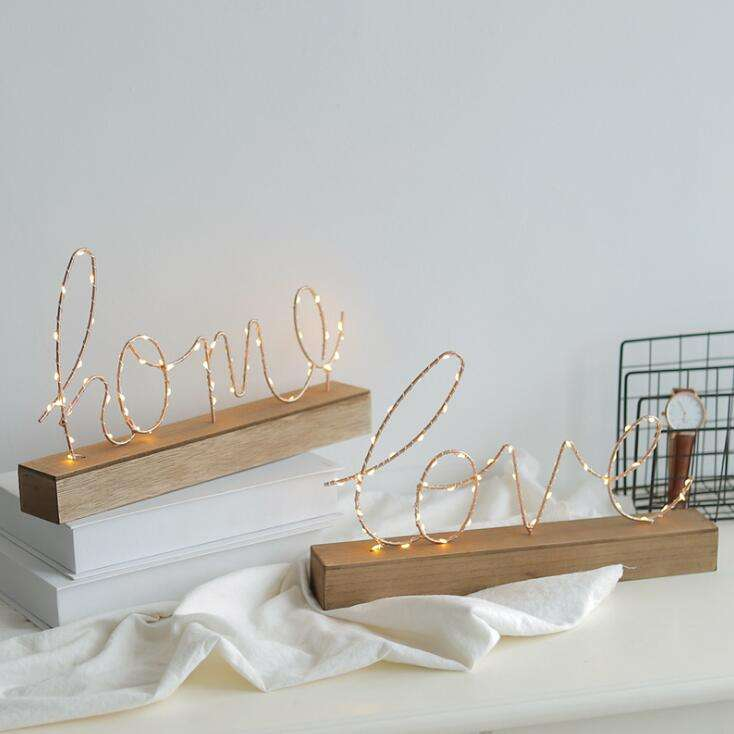 C265 Love Letter Model with Light Shop Table Lamp Decorations Crafts Furnishing Star Light Birthday Decoration Home Decor