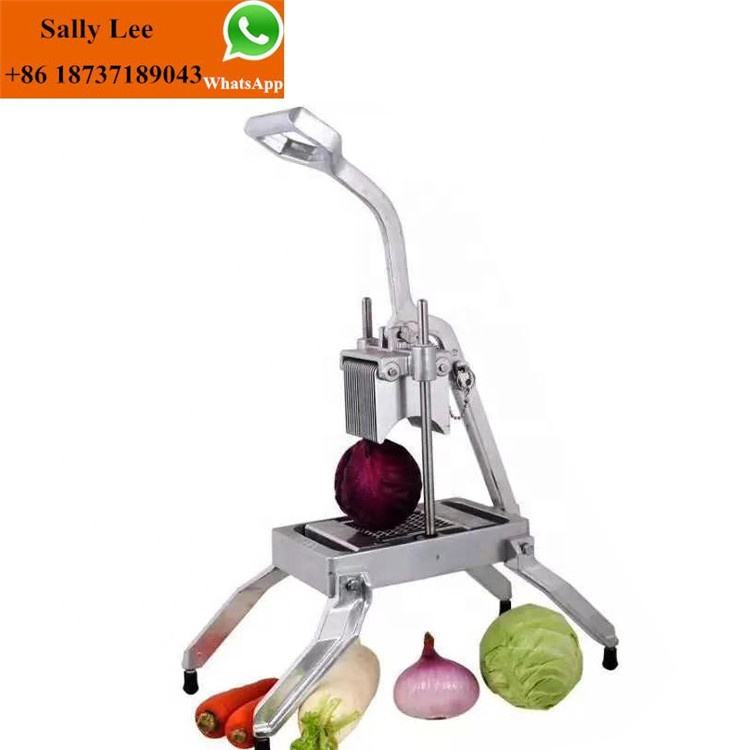 Die cast aluminum housing stainless steel blade manual onion slicer