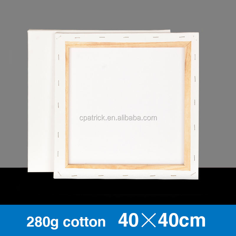 40*40cm 280g cotton stretched canvas on stretcher bar