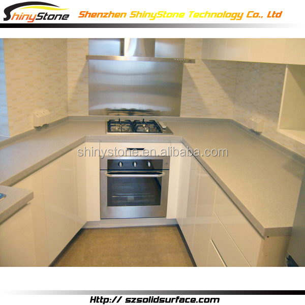 Amazing boutique artificial stone kitchen cabinet in guangzhou