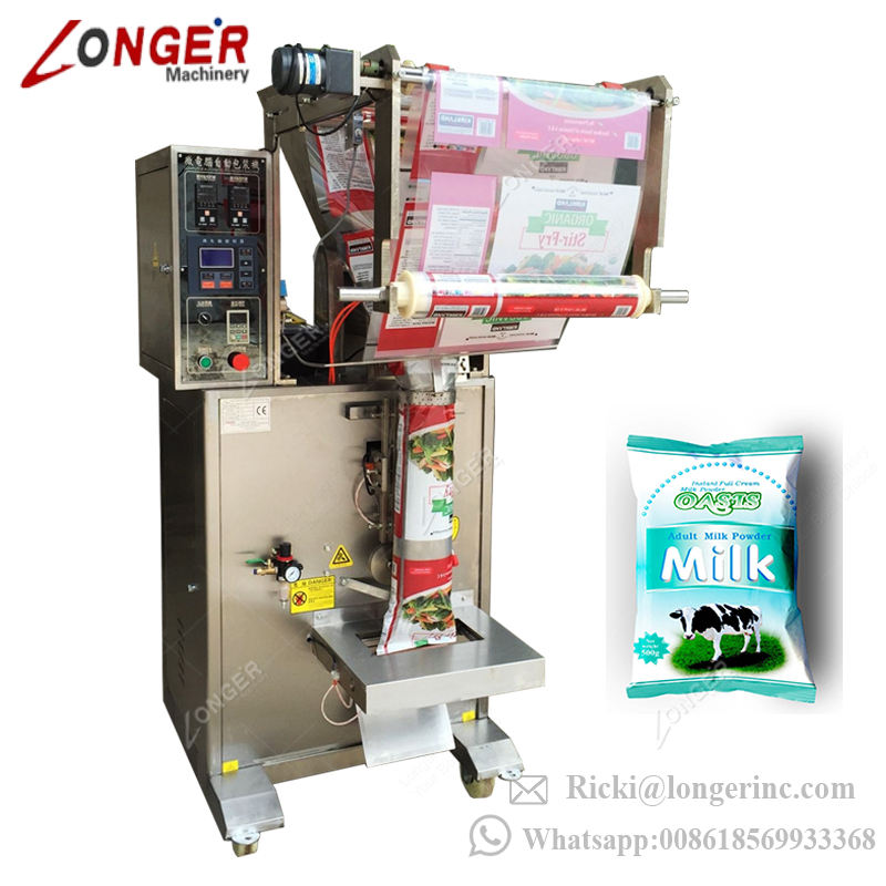 Automatic Sachet Dry Protein Cocoa Chemical Powder Filling and Sealing Toner Custard Masala Pouch Milk Powder Packing Machine