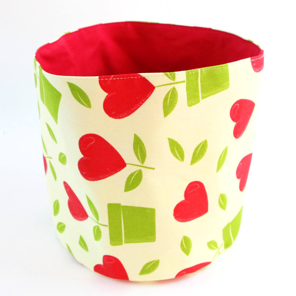Doctorhome new hot selling kitchen food storage red round cotton bread basket