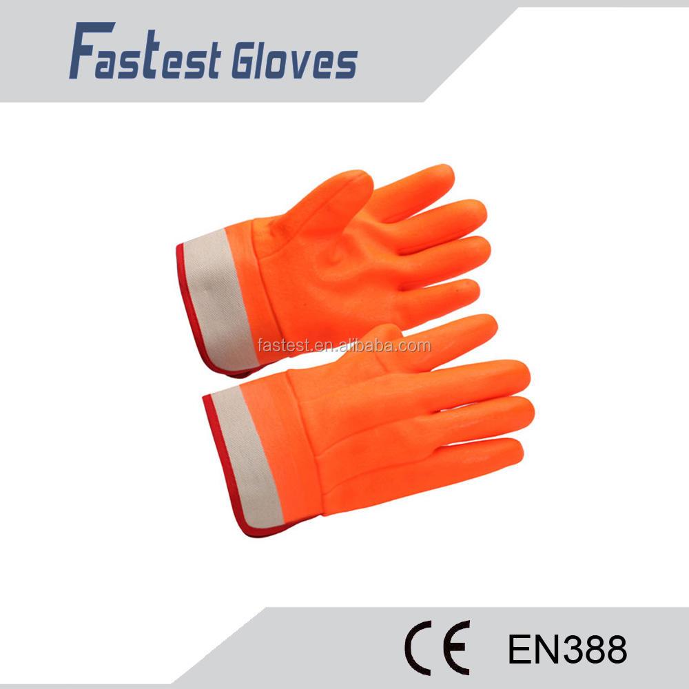 Ex-fábrica preço orangesmooth luva de trabalho
