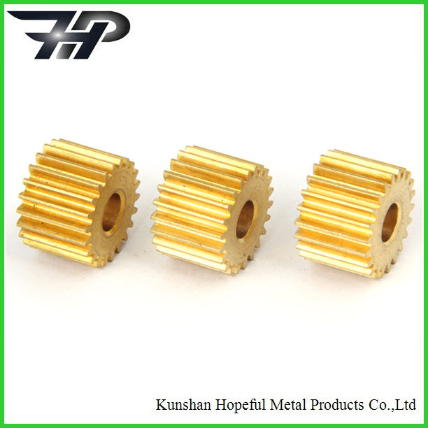 China customized precise small brass spur gear