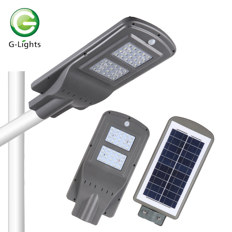 China wholesale ip65 waterproof 20w 40w 60w integrated all in one solar led street lamps