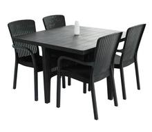 Square Plastic Outdoor Dining Table and chairs Set