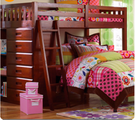 HXDZ1808-183 solid wood jujube red color bunk bed