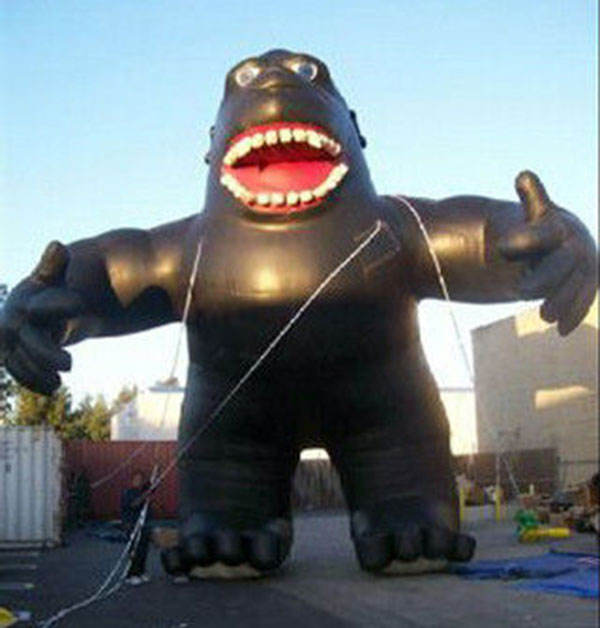 cute inflatable cartoon inflatable gorilla for commercial advertising