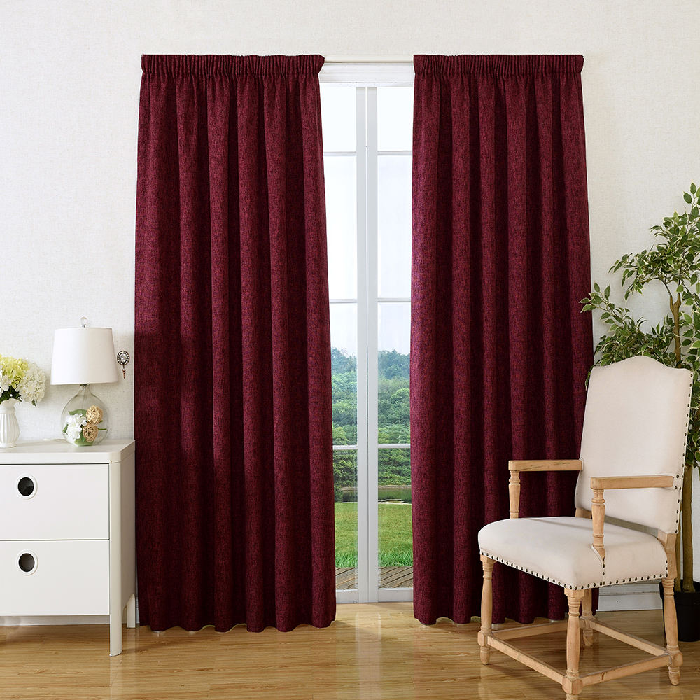2019 China supplier wholesale most popular wine soft fabric blackout curtains