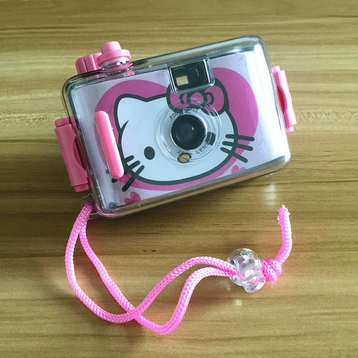 35 мм фильм водонепроницаемый Многоразовые ломо камеры без вспышки под водой 3 метра глубины ABS материал Hello Kitty