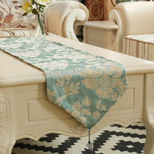Jacquard dining room table runner cheap table runner