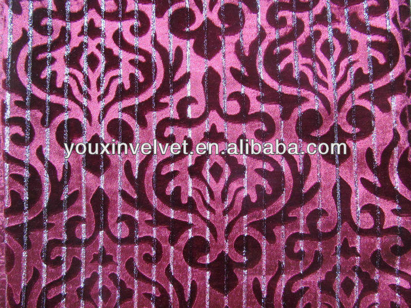 100% polyester new design 140cm embossed velvet fabric with metallic