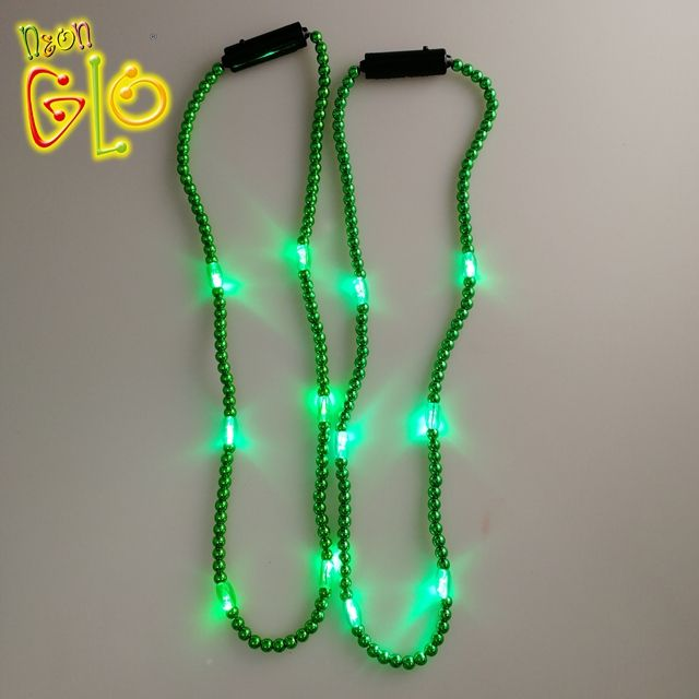 Wearable LED Flashing Beads Light Up Party Decoration Necklace