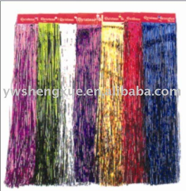 christmas ornament ,christmas tinsel garland ,color wig