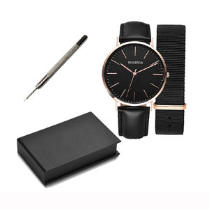 Charm Private Label Christmas Gifts Box Minimalist Men Japan Movement Stainless Steel Watch