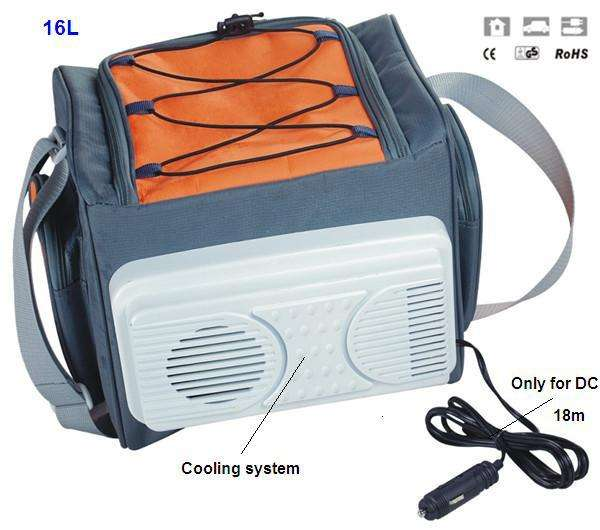 Customizable Insulated Electric 16L Car Cooler Bag With External Cooling System