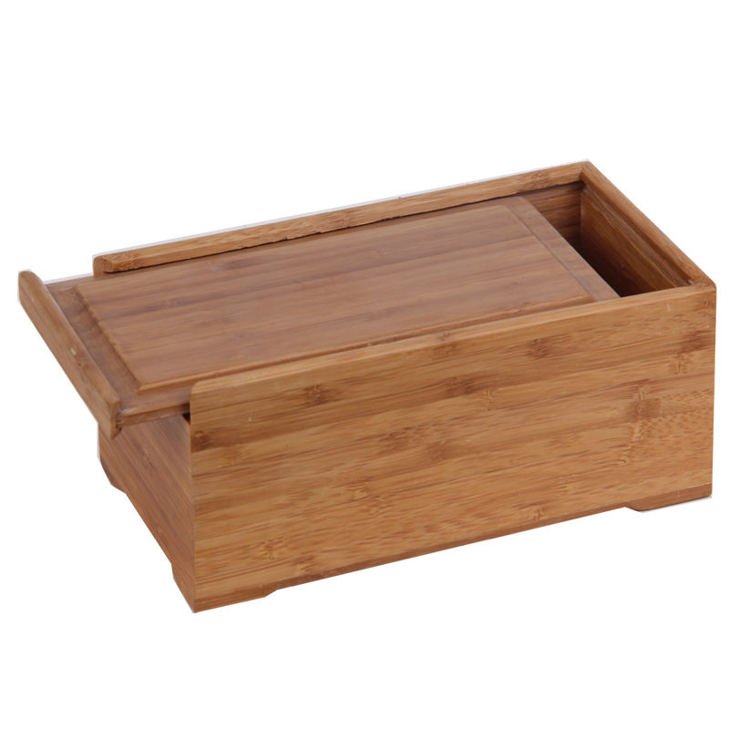 Harwoo custom solid wood bamboo gift box display packing case with slid lid