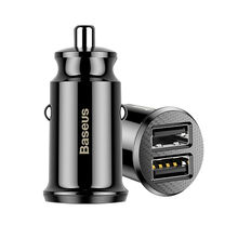Baseus Grain Mini Dual Usb 5V 3.1A Fast Charge Mini Usb Car Charger
